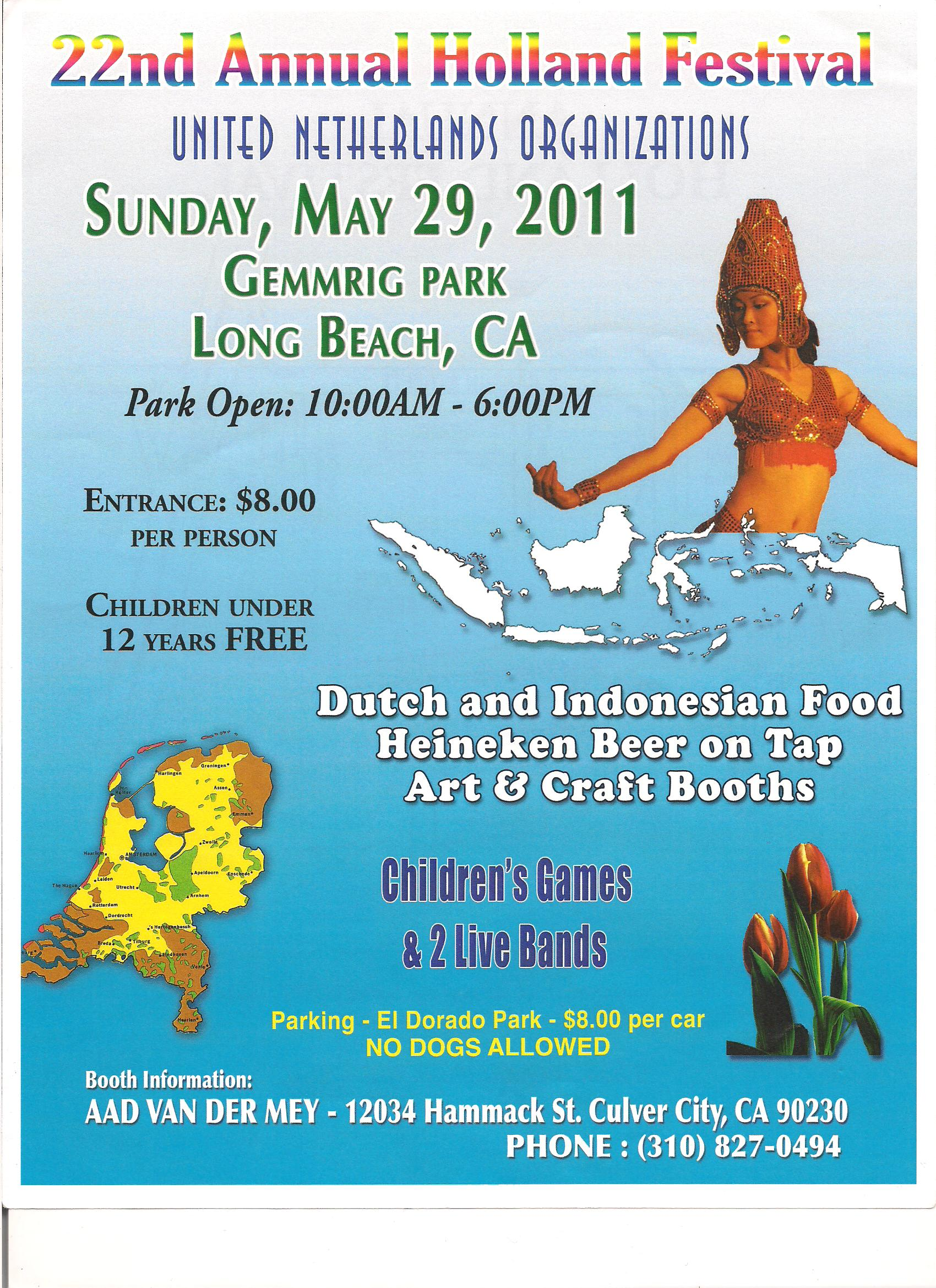 22nd Annual Holland Festival – May 29