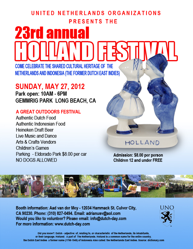 23rd Annual HOLLAND FESTIVAL SoCal 2012